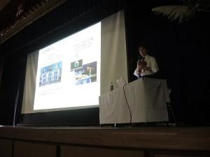 高17回、大阪大学名誉教授、柳田敏雄氏による記念講演